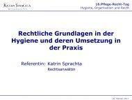 Rechtliche Grundlagen in der Hygiene und deren ... - Heilberufe