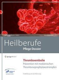 Thromboembolie Pflege Dossier - Heilberufe