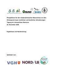 Perspektiven für den niedersächsischen Naturschutz vor dem ...