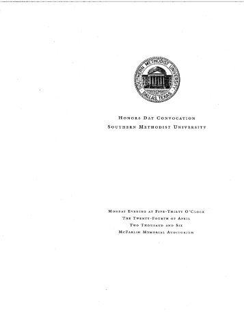 Brochure (PDF) - Southern Methodist University