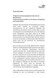 Pressemitteilung herunterladen - Alois Heiler GmbH