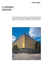 LE MÉRIDIEN MÜNCHEN - Alois Heiler GmbH
