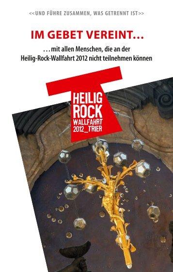Im Gebet vereInt… - Heilig-Rock-Wallfahrt