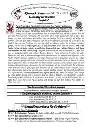 Der Pfarrbrief vom 20.04.2013 bis 28.04.2013 - Katholischen Pfarrei ...