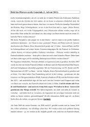 Brief des Pfarrers an die Gemeinde (1 - Katholischen Pfarrei Heilige ...