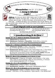 27.1.2013 2. Sonntag im - Katholischen Pfarrei Heilige Familie Bad ...