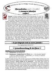 Der Pfarrbrief vom 09.02.2013 bis 17.02.2013 - Katholischen Pfarrei ...