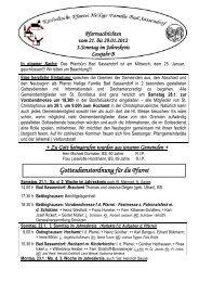 Der Pfarrbrief vom 21.01.2012 bis 29.01.2012 - Katholischen Pfarrei ...