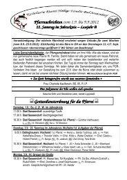 Der Pfarrbrief vom 01.09.2012 bis 09.09.2012 - Katholischen Pfarrei ...