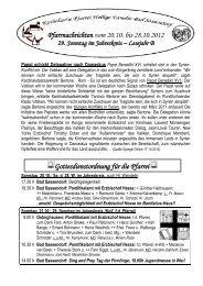 Pfarrnachrichten vom 20 - Katholischen Pfarrei Heilige Familie Bad ...