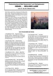 israel - heiliges land - Katholischen Pfarrei Heilige Familie Bad ...