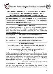 GLAUBENSSEMINAR: - Katholischen Pfarrei Heilige Familie Bad ...