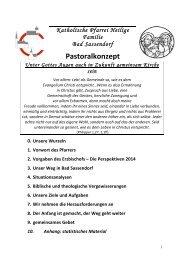 Pastoralkonzept - Katholischen Pfarrei Heilige Familie Bad Sassendorf