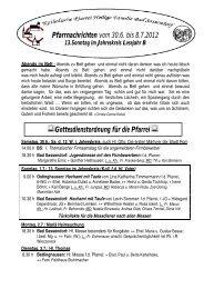 Der Pfarrbrief vom 30.06.2012 bis 07.07.2012 - Katholischen Pfarrei ...
