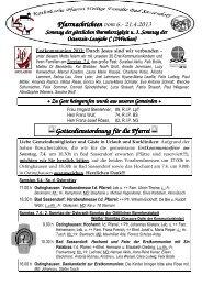 Der Pfarrbrief vom 06.04.2013 bis 21.04.2013 - Katholischen Pfarrei ...