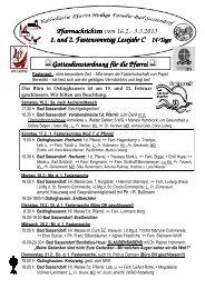 Der Pfarrbrief vom 16.02.2013 bis 03.03.2013 - Katholischen Pfarrei ...