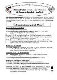 Der Pfarrbrief vom 10.11.2012 bis 18.11.2012 - Katholischen Pfarrei ...