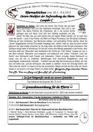 Der Pfarrbrief vom 30.03.2013 bis 08.04.2013 - Katholischen Pfarrei ...