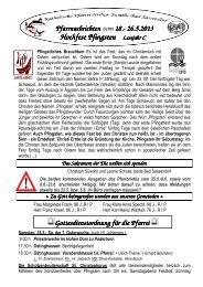 Der Pfarrbrief vom 18.05.2013 bis 26.05.2013 - Katholischen Pfarrei ...
