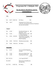 Programm für 2. Halbjahr 2012 - Katholischen Pfarrei Heilige ...