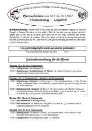 Der Pfarrbrief vom 10.03.2012 bis 18.03.2012 - Katholischen Pfarrei ...