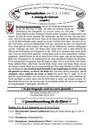 Der Pfarrbrief vom 27.04.2013 bis 05.05.2013 - Katholischen Pfarrei ...