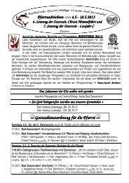 Der Pfarrbrief vom 04.05.2013 bis 19.05.2013 - Katholischen Pfarrei ...