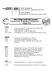 Programm der kfd Bad Sassendorf und Ostinghausen 1. Halbjahr ...