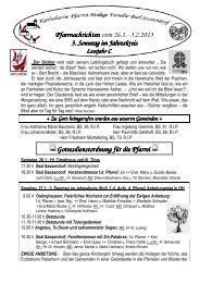 Der Pfarrbrief vom 26.01.2013 bis 03.02.2013 - Katholischen Pfarrei ...