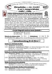 Der Pfarrbrief vom 08.06.2013 bis 23.06.2013 - Katholischen Pfarrei ...