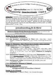 Der Pfarrbrief vom 31.03.2012 bis 09.04.2012 - Katholischen Pfarrei ...