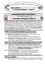 Der Pfarrbrief vom 17.11.2012 bis 25.11.2012 - Katholischen Pfarrei ...