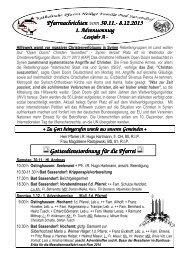 Der Pfarrbrief vom 30.11.2013 bis 08.12.2013 - Pfarrei Heilige ...