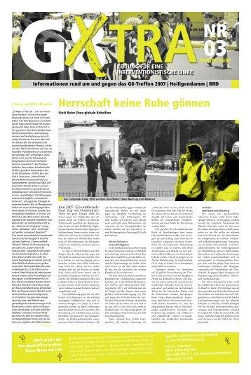 Herrschaft keine Ruhe gönnen - Heiligendamm 2007