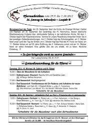Der Pfarrbrief vom 29.09.2012 bis 07.10.2012 - Katholischen Pfarrei ...