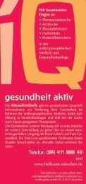 Telefon 089 411 888 49 und www.heilkunst-münchen.de