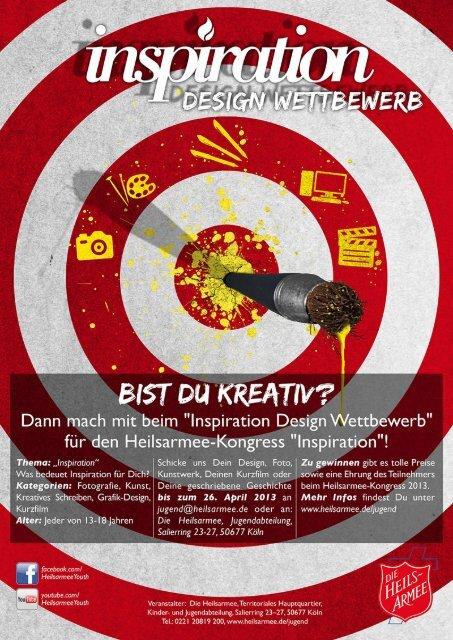 Inspiration Design Wettbewerb - Die Heilsarmee in Deutschland