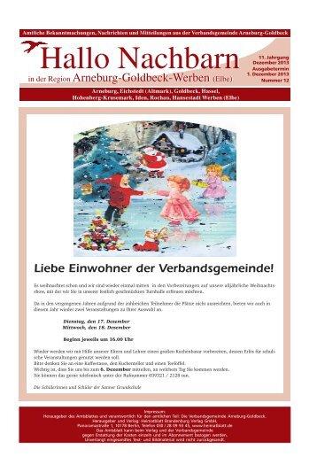 Hallo Nachbarn in der Region Arneburg-Goldbeck-Werben