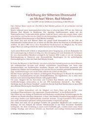 Verleihung der Silbernen Ehrennadel an Michael Meier, Bad Münder