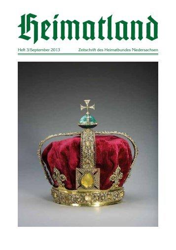 Heft 3/September 2013 Zeitschrift des Heimatbundes Niedersachsen