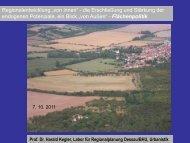 Flächenpolitik Prof. Dr. Harald Kegler, Labor für Regionalplanung ...