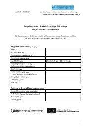 Fragebogen für rückkehrwillige Flüchtlinge deutsch ... - Heimatgarten