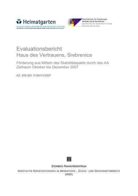 Evaluation Report | Evaluation Report Haus Des Vertrauens Heimatgarten