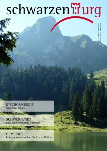 das magazin von Schwarzenburg | no 8 | August ... - aktuelle Ausgabe