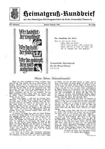HR Folge 85 - Heimatkreis Arnswalde