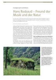 Hans Rosbaud – Freund der Musik und der Natur - Schweizer ...