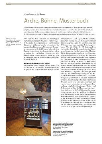 Period Rooms - Schweizer Heimatschutz