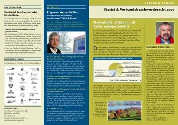 Statistik 2007 - verbandsbeschwerde.ch