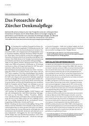 Das Fotoarchiv der Zürcher Denkmalpflege - Schweizer Heimatschutz