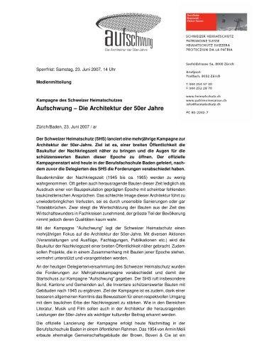 Aufschwung – Die Architektur der 50er Jahre - Schweizer ...